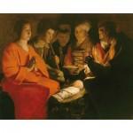 Puzzle-Michele-Wilson-A102-250 Jigsaw Puzzle - 250 Pieces - Art - Wooden - Georges de La Tour : Adoration of the Shepherds