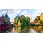 Puzzle-Michele-Wilson-A121-150 Wooden Jigsaw Puzzle - Claude Monet - Zaandam, Canal