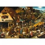 Puzzle-Michele-Wilson-A131-650 Jigsaw Puzzle - 650 Pieces - Art - Wooden - Brueghel : Flemish Proverb