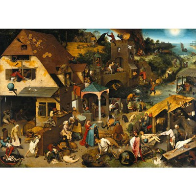 Puzzle-Michele-Wilson-A131-650 Jigsaw Puzzle - 650 Pieces - Art - Wooden - Brueghel : Flemish Proverb