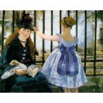 Puzzle-Michele-Wilson-A133-250 Jigsaw Puzzle - 250 Pieces - Art - Wooden - Manet : The Railway