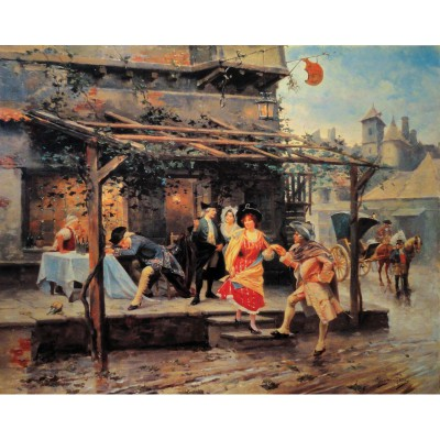 Puzzle-Michele-Wilson-A141-1000 Jigsaw Puzzle - 1000 Pieces - Art - Wooden - Alonzo Perez : The Inn