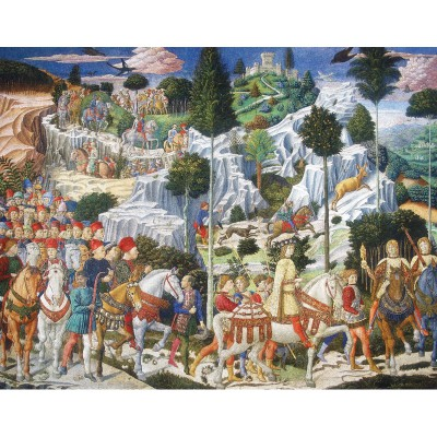 Puzzle-Michele-Wilson-A262-750 Jigsaw Puzzle - 750 Pieces - Art - Wooden - Michele Wilson - Gozzoli : The Three Wise Men