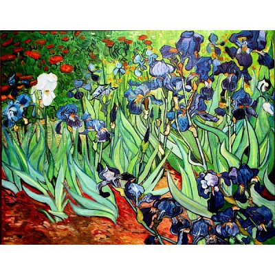 Puzzle-Michele-Wilson-A270-500 Jigsaw Puzzle - 500 Pieces - Art - Wooden - Michele Wilson - Van Gogh : Irises