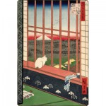 Puzzle-Michele-Wilson-A286-350 Jigsaw Puzzle - 350 Pieces - Art - Wooden - Michele Wilson - Hiroshige : Cat in Front of Rice Field