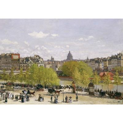 Puzzle-Michele-Wilson-A287-650 Jigsaw Puzzle - 350 Pieces - Art - Wooden - Michele Wilson - Monet : Louvres Dock in Paris