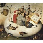 Puzzle-Michele-Wilson-A311-250 Hand-Cut Wooden Puzzle - Bosch - Concert in the Egg