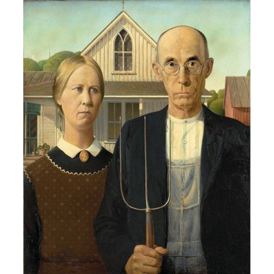 Puzzle Puzzle-Michele-Wilson-A325-250 Wood Grant : American Gothic