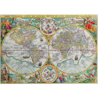 Puzzle Puzzle-Michele-Wilson-A350-500 World Map of 1594