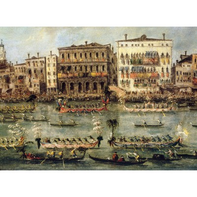 Puzzle-Michele-Wilson-A352-250 Jigsaw Puzzle - 250 Pieces - Art - Wooden - Michele Wilson - Guardi : Regattas on the Canal
