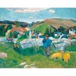 Puzzle-Michele-Wilson-A462-500 Wooden Jigsaw Puzzle - Paul Gauguin: Le Porcher