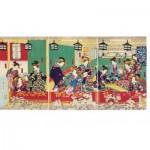 Puzzle-Michele-Wilson-A489-500 Wooden Jigsaw Puzzle - Utagawa - Shin Yoshiwara
