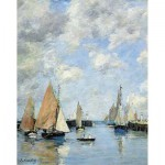 Puzzle-Michele-Wilson-A506-250 Jigsaw Puzzle - 250 Pieces - Art - Wooden - Boudin : The Jetty at High Tide