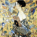 Puzzle-Michele-Wilson-A515-80 Jigsaw Puzzle - 80 Pieces - Art - Wooden - Klimt : Lady with Fan