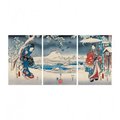 Puzzle-Michele-Wilson-A541-900 Hand-Cut Wooden Puzzle - Tale of Genji