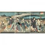 Puzzle-Michele-Wilson-A542-350 Wooden Jigsaw Puzzle - Utagawa Kunisada