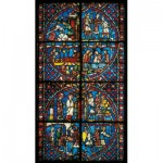 Puzzle-Michele-Wilson-A556-1200 Wooden Jigsaw Puzzle - Stained Glass