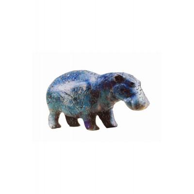 Puzzle-Michele-Wilson-A561-80 Jigsaw Puzzle - 80 Pieces - Art - Wooden - Hippopotamus