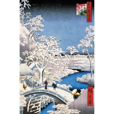 Puzzle-Michele-Wilson-A566-250 Jigsaw Puzzle - 250 Pieces - Art - Wooden - Hiroshige : Merugo Bridge