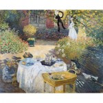 Puzzle-Michele-Wilson-A643-350 Hand-Cut Wooden Puzzle - Claude Monet - The Lunch
