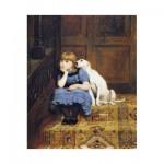 Puzzle-Michele-Wilson-A655-80 Wooden Jigsaw Puzzle - Briton Rivière - Sympathy