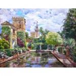 Puzzle-Michele-Wilson-A661-250 Hand-Cut Wooden Puzzle - Manuel Garcia y Rodriguez - The Alcazar Basin