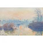 Puzzle-Michele-Wilson-A697-350 Hand-Cut Wooden Puzzle - Claude Monet - Setting Sun in Lavacourt