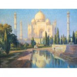 Puzzle-Michele-Wilson-A700-80 Hand-Cut Wooden Puzzle - Colin Campbell Cooper - Taj Mahal