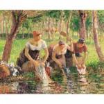 Puzzle-Michele-Wilson-A717-500 Jigsaw Puzzle - 500 Pieces - Art - Wooden - Pissarro : The Washerwomen