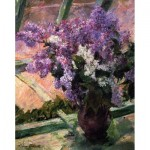 Puzzle-Michele-Wilson-A753-250 Hand-Cut Wooden Puzzle - Mary Cassatt - Lilac at the Window