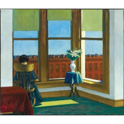 Puzzle-Michele-Wilson-A777-250 Hand-Cut Wooden Puzzle - Edward Hopper - Brooklyn Room