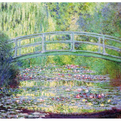 Puzzle-Michele-Wilson-A910-350 Jigsaw Puzzle - 350 Pieces - Art - Wooden - Monet : The Japanese Bridge