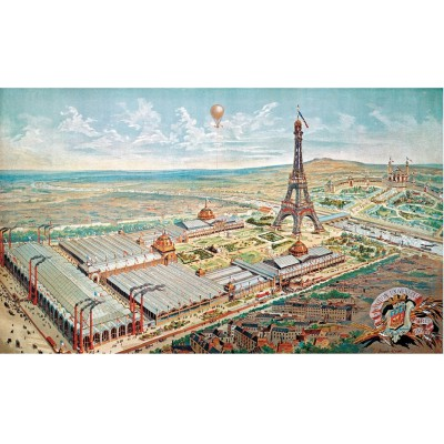 Puzzle Puzzle-Michele-Wilson-A932-750 Engraving of Paris in 1889