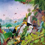 Puzzle-Michele-Wilson-A942-350 Jigsaw Puzzle - 350 Pieces - Art - Wooden - Thomas : Keel-billed Toucan