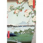 Puzzle-Michele-Wilson-A974-350 Jigsaw Puzzle - 350 Pieces - Art - Wooden - Hiroshige : Apple Trees in Bloom