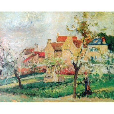 Puzzle-Michele-Wilson-A984-1000 Jigsaw Puzzle - 1000 Pieces - Art - Wooden - Pissarro : Plum Trees in Blossom