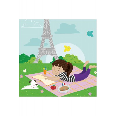 Puzzle-Michele-Wilson-Cuzzle-Z13 Wooden puzzle - Collection Paris: Picnic in Paris