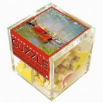 Puzzle-Michele-Wilson-Cuzzle-Z47 Wooden Puzzle - Cube - Claude Monet: The Red Boats