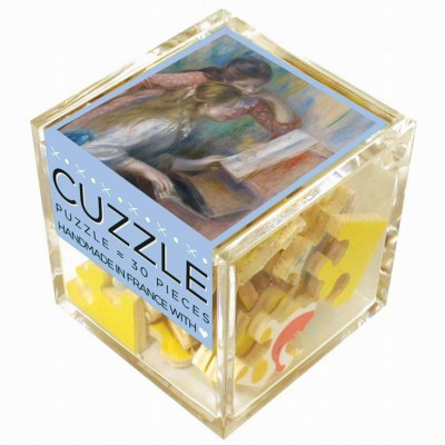 Puzzle-Michele-Wilson-Cuzzle-Z48 Wooden Puzzle - Cube - Auguste Renoir: Girls at the Piano