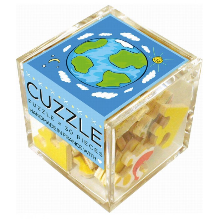 Wooden Puzzle - Cube - One Planet