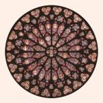 Puzzle-Michele-Wilson-Cuzzle-Z80 Hand-Cut Wooden Puzzle - Rosette Notre-Dame