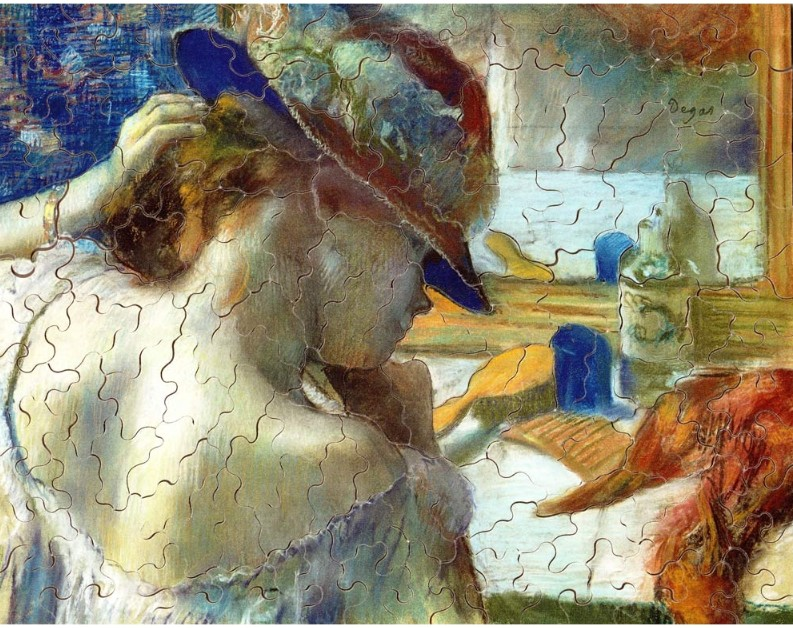 Degas Edgar - In front of the Mirror, 1889 150 piece jigsaw puzzle