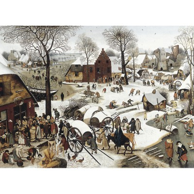 Puzzle-Michele-Wilson-H58-200 Jigsaw Puzzle - 200 Large Pieces - Art - Wooden - Large Pieces - Bruegel : Numbering at Bethlehem