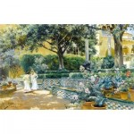 Puzzle-Michele-Wilson-H597-200 Hand-Cut Wooden Puzzle - Manuel Garcia y Rodriguez - The Gardens of the Alcazar