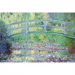 Hand-Cut Wooden Puzzle - Claude Monet - The Japanese Bridge