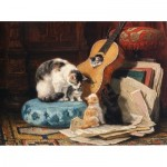 Hand-Cut Wooden Puzzle - Henriette Ronner-Knip - Guitar Lesson