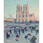 Hand-Cut Wooden Puzzle - Maximilien Luce - Notre Dame