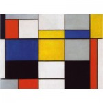Hand-Cut Wooden Puzzle - Mondrian - Composition 123