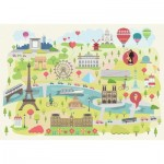 Hand-Cut Wooden Puzzle - Paris Illustrated