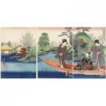 Hand-Cut Wooden Puzzle - Utagawa Kunisada